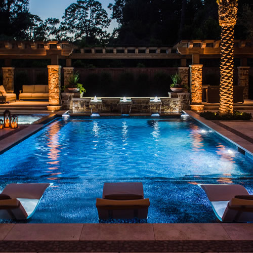 Landscaping Project North Texas: Custom Design Pools & Landscaping Houston Luxury Pool